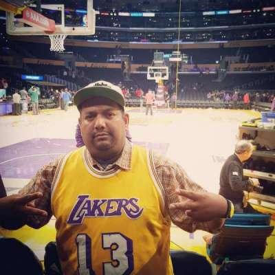 Staples Center, Abschnitt: 115, Reihe: AA, Platz: 4