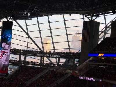 Mercedes-Benz Stadium, Abschnitt: 213, Reihe: 10, Platz: 9