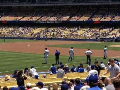 Dodger Stadium, Abschnitt: 43FD, Reihe: P, Platz: 4
