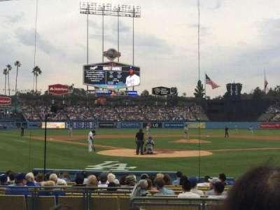 Dodger Stadium, Abschnitt: 4FD, Reihe: E, Platz: 3