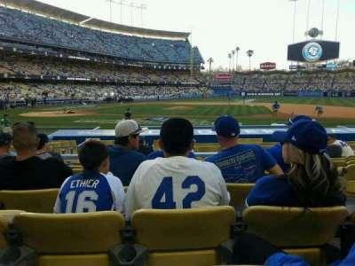 Dodger Stadium, Abschnitt: 18fd, Reihe: J, Platz: 6