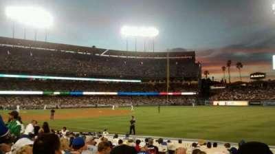 Dodger Stadium, Abschnitt: 42FD, Reihe: J, Platz: 5