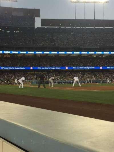 Dodger Stadium, Abschnitt: 32BL, Reihe: 1, Platz: 7-8