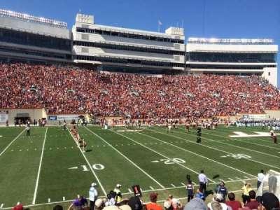 Lane Stadium, Abschnitt: 17, Reihe: W, Platz: 10