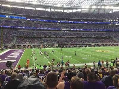 U.S. Bank Stadium, Abschnitt: 112, Reihe: 18, Platz: 20