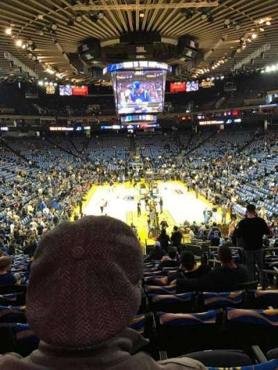 Oracle Arena, Abschnitt: 108, Reihe: 22, Platz: 4
