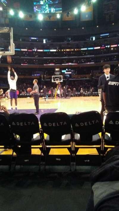 Staples Center, Abschnitt: 115, Reihe: B, Platz: 5