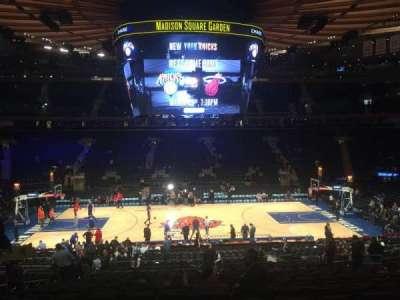 Madison Square Garden, Abschnitt: 107, Reihe: 22, Platz: 9