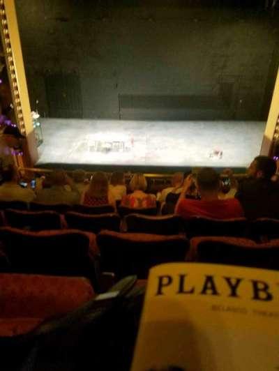 Belasco Theatre, Abschnitt: mezz, Reihe: f, Platz: 107
