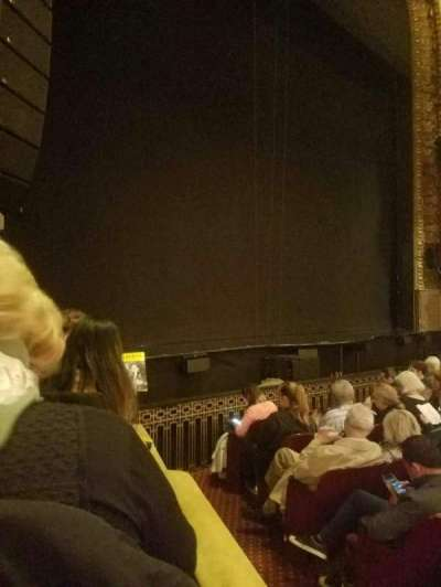 Palace Theatre (Broadway), Abschnitt: orch left, Reihe: f, Platz: 1