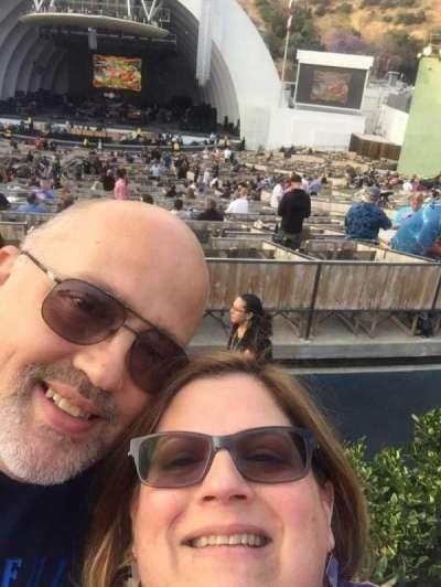 Hollywood Bowl, Abschnitt: G2, Reihe: 6, Platz: 4