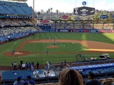 Dodger Stadium, Abschnitt: 124LG, Reihe: L, Platz: 1