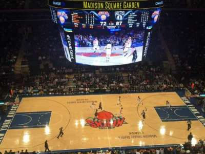Madison Square Garden, Abschnitt: 313, Reihe: 1, Platz: 5