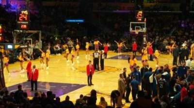 Staples Center, Abschnitt: 106, Reihe: 18