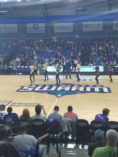 Greensboro Coliseum Fieldhouse, Abschnitt: 104, Reihe: H, Platz: 19