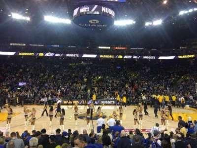 Oracle Arena, Abschnitt: 102, Reihe: 14, Platz: 2