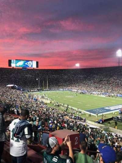 Los Angeles Memorial Coliseum, Abschnitt: 2H, Reihe: 53, Platz: 107