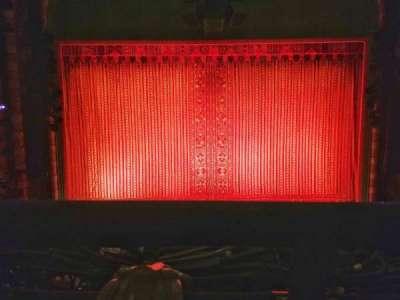 New Amsterdam Theatre, Abschnitt: Mezzanine, Reihe: AA, Platz: 108