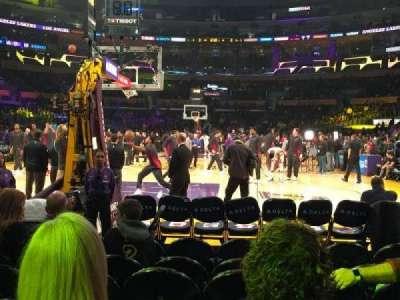 Staples Center, Abschnitt: 106, Reihe: G, Platz: 7