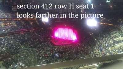 Capital One Arena, Abschnitt: 412, Reihe: H, Platz: 1