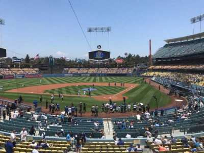 Dodger Stadium, Abschnitt: 111LG, Reihe: B, Platz: 2
