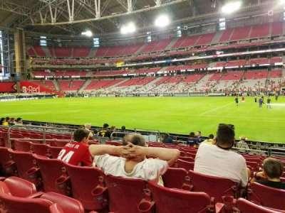 University of Phoenix Stadium, Abschnitt: 125, Reihe: 10, Platz: 18
