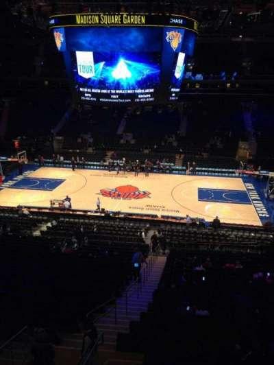 Madison Square Garden, Abschnitt: 212, Reihe: 1, Platz: 2