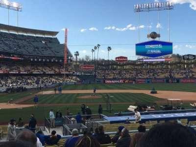 Dodger Stadium, Abschnitt: 14FD, Reihe: S, Platz: 1
