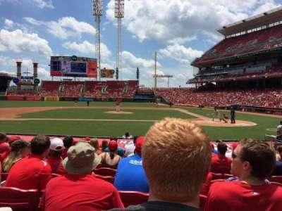 Great American Ball Park, Abschnitt: 118, Reihe: O, Platz: 6