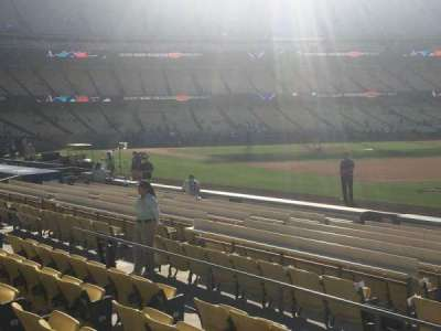 Dodger Stadium, Abschnitt: 36FD, Reihe: F, Platz: 1