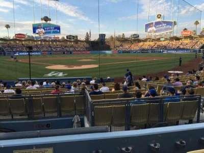 Dodger Stadium, Abschnitt: 4FD, Reihe: D, Platz: 1