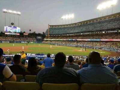 Dodger Stadium, Abschnitt: 19FD, Reihe: U, Platz: 4