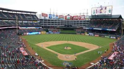 Globe Life Park in Arlington, Abschnitt: Wandered behind home after the