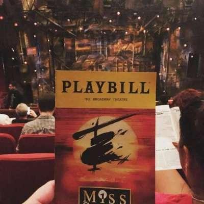 Broadway Theatre - 53rd Street, Abschnitt: Rear Mezzanine, Reihe: F, Platz: 105