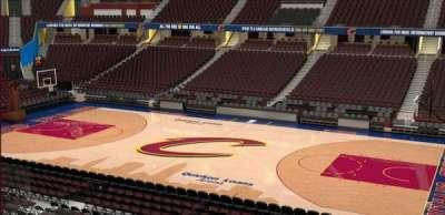 Quicken Loans Arena, Abschnitt: C110, Reihe: 20