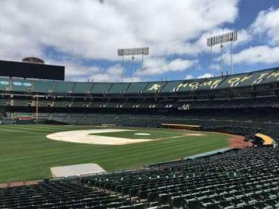 Oakland Coliseum, Bereich: 127, Reihe: 22