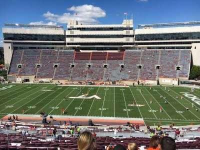 Lane Stadium, Abschnitt: 9, Reihe: UUU, Platz: 24