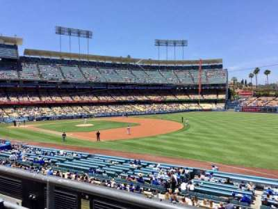 Dodger Stadium, Abschnitt: 154LG, Reihe: B, Platz: 1