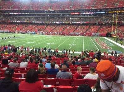Georgia Dome, Abschnitt: 112, Reihe: 22, Platz: 8