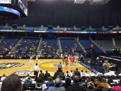 Greensboro Coliseum, Abschnitt: 110, Reihe: Ff, Platz: 8