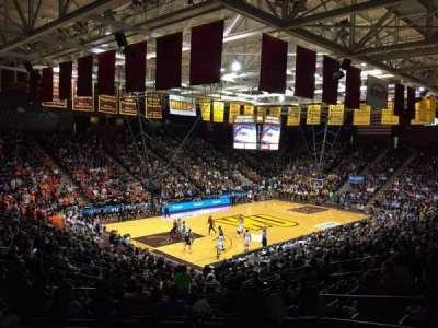 Winthrop Coliseum, Abschnitt: 119, Reihe: U, Platz: 8