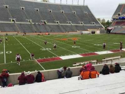 Lane Stadium, Abschnitt: 6, Reihe: Q, Platz: 14