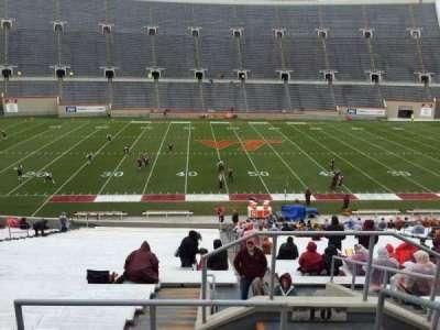 Lane Stadium, Abschnitt: 10, Reihe: TT, Platz: 3