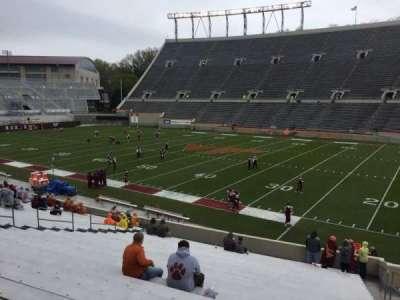 Lane Stadium, Abschnitt: 16, Reihe: CC, Platz: 5