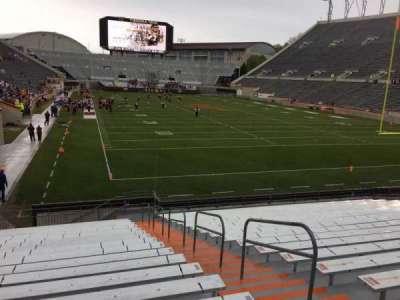 Lane Stadium, Abschnitt: 105, Reihe: U, Platz: 3