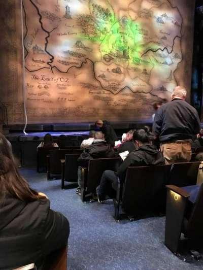 Gershwin Theatre, Abschnitt: Orchestra L, Reihe: D, Platz: 1