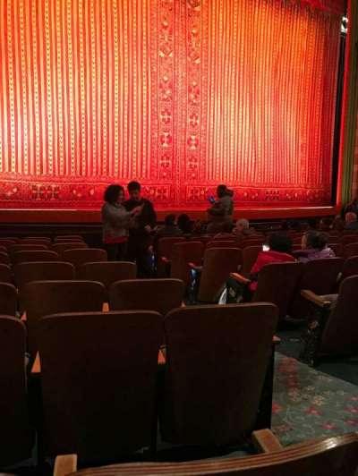 New Amsterdam Theatre, Abschnitt: Orchestra, Reihe: J, Platz: 5