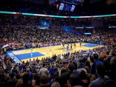 Chesapeake Energy Arena, Abschnitt: 107, Reihe: N, Platz: 16