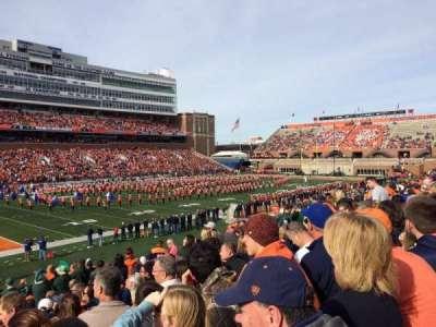 Memorial Stadium (Champaign), Abschnitt: 109, Reihe: 32, Platz: 20