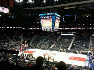 Philips Arena, Abschnitt: 210, Reihe: A, Platz: 3